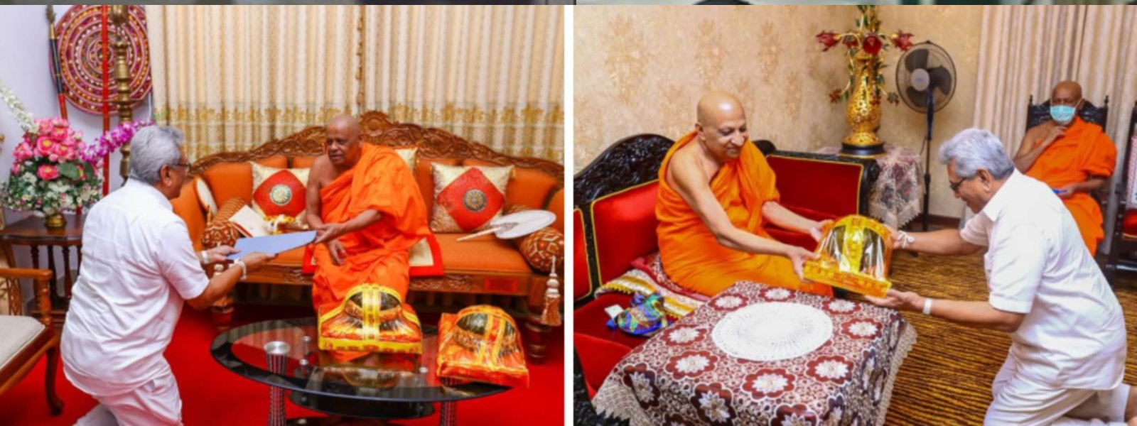 Temple of the Sacred Tooth Relic and Malwatte, Asgiriya chapters donate Rs. 20 million to COVID-19 fund