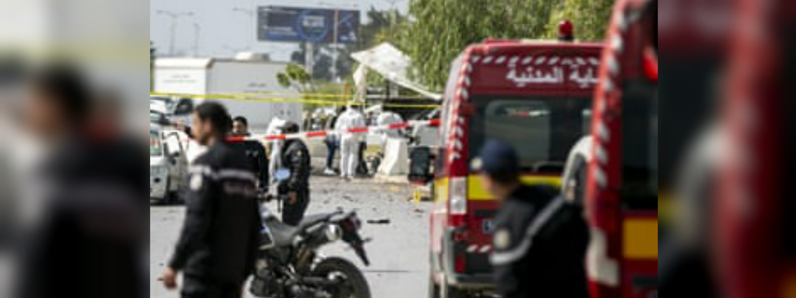 Five wounded in suicide blast near U.S. embassy in Tunis