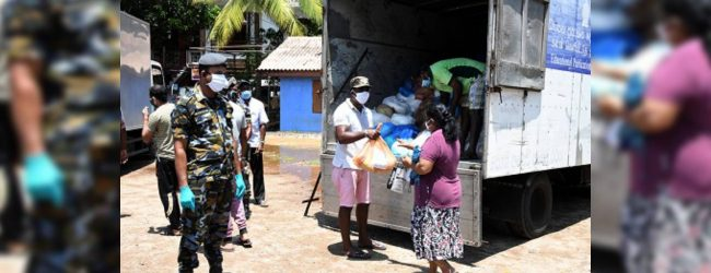 SLAF distributes dry rations among 50,000 families