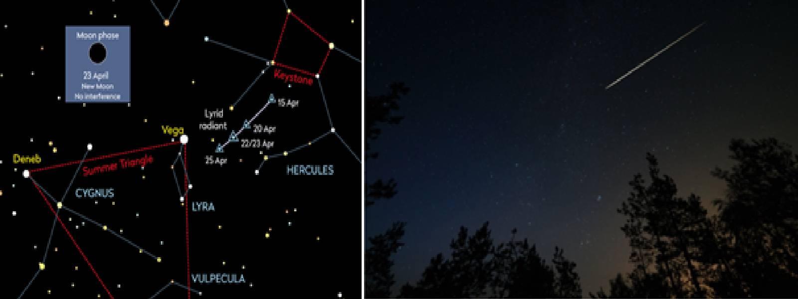 Visibility of Lyrid meteor to peak on Wednesday
