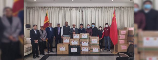 Sri Lankan community in China donates medical supplies