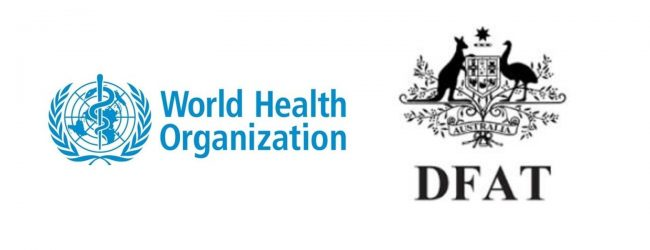 Essential items donated by the WHO and DFAT Australia
