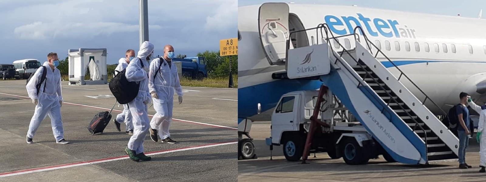 Crew transfer flight from Belgium lands at the MRIA
