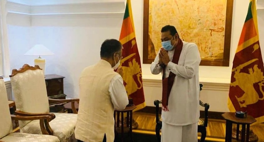 """Here to deepen India-Sri Lanka bilateral relations"", Indian HC tells PM Rajapaksa"