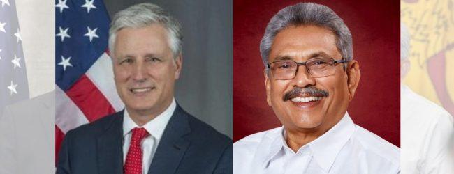 US National Security Advisor calls on President Gotabaya Rajapaksa