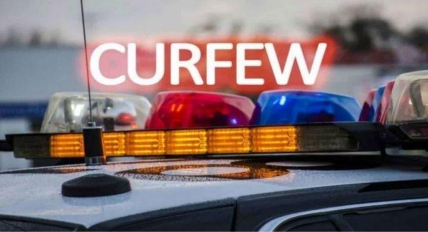 Island-wide curfew on Sunday & Monday