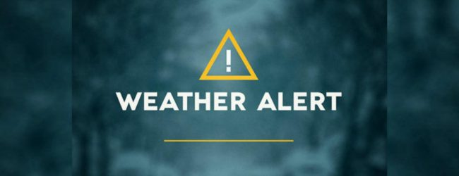 UPDATE :  Weather Advisory for heavy rain