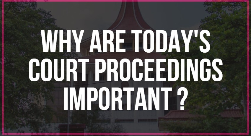 Why are today's court proceedings important to you? Here's what happened.