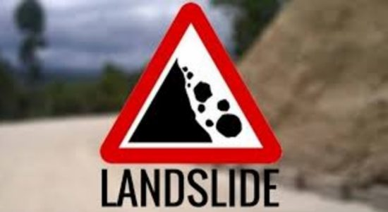 People living in Lellopitiya, Ratnapura in distress due to landslide threats