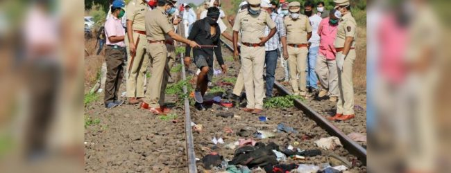 Indian train kills 14 workers laid-off in coronavirus lockdown