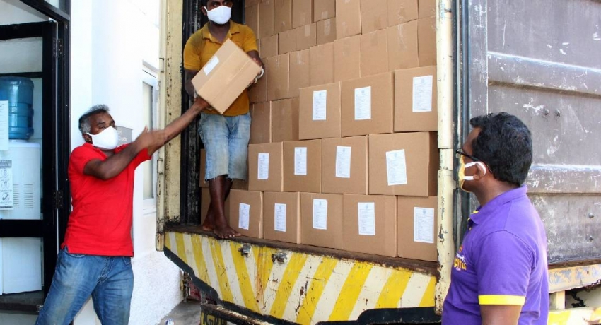 Dry rations dispatched for Sri Lankans in the Maldives