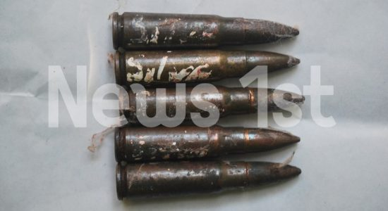 Engraved T-56 Assault Rifle bullets left at Boossa Prison Head Jailor's door-step