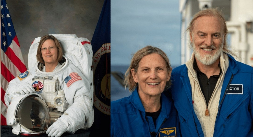Doctor Kathy Sullivan; first person to reach the deepest spot in the ocean and to walk in space.