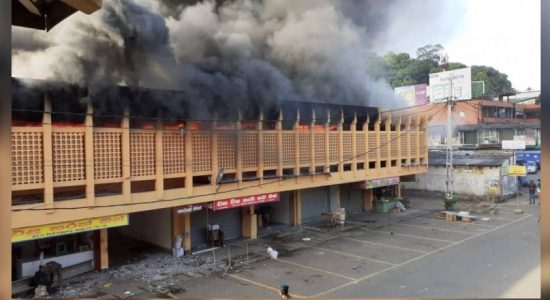 Fire erupts at Public Market building in Kegalle