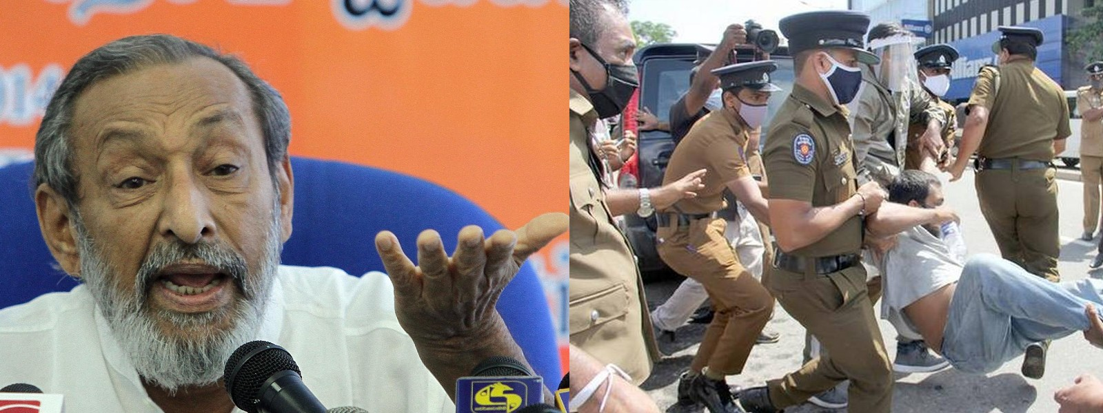 Vasudeva condemns use of force against FSP protest in Colombo