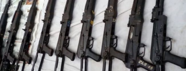 Assault Rifles discovered today were to be used to attack a prison bus – Police