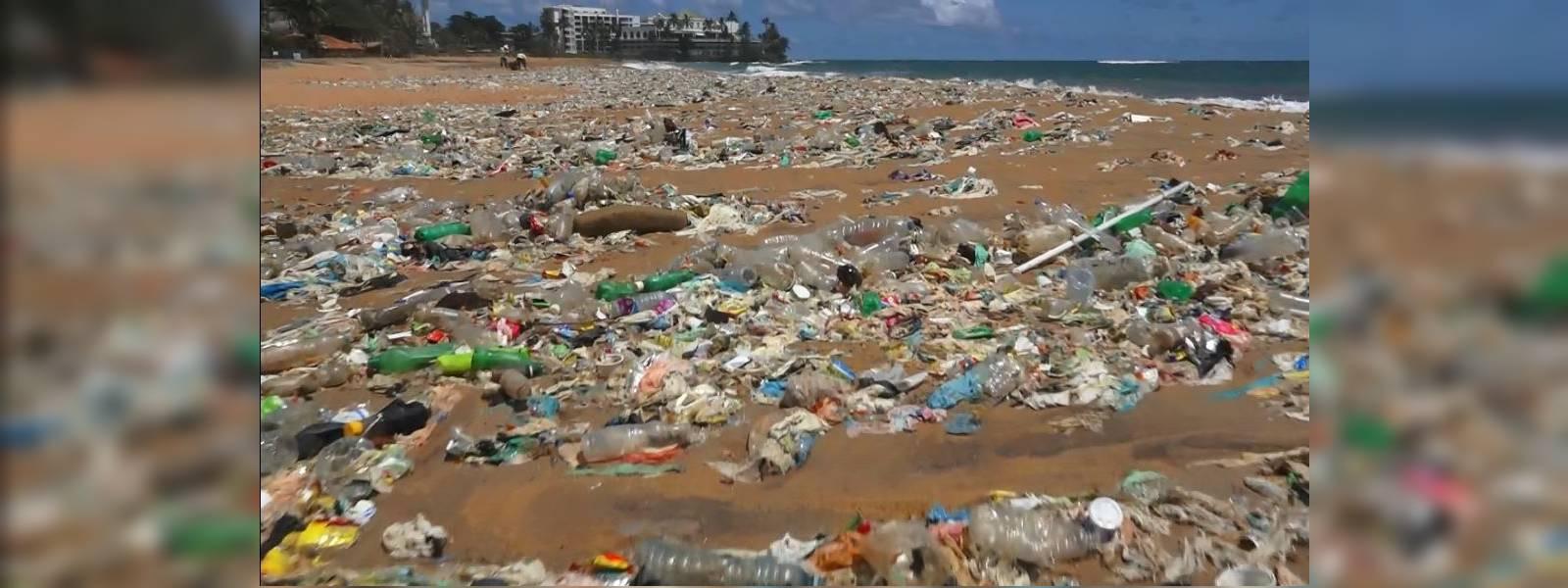 Police probe washing up of waste on Mount Lavinia beach