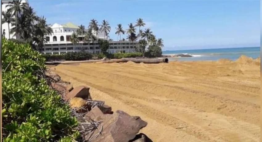 889 Million goes in vain as Mt. Lavinia beach continues to get eroded