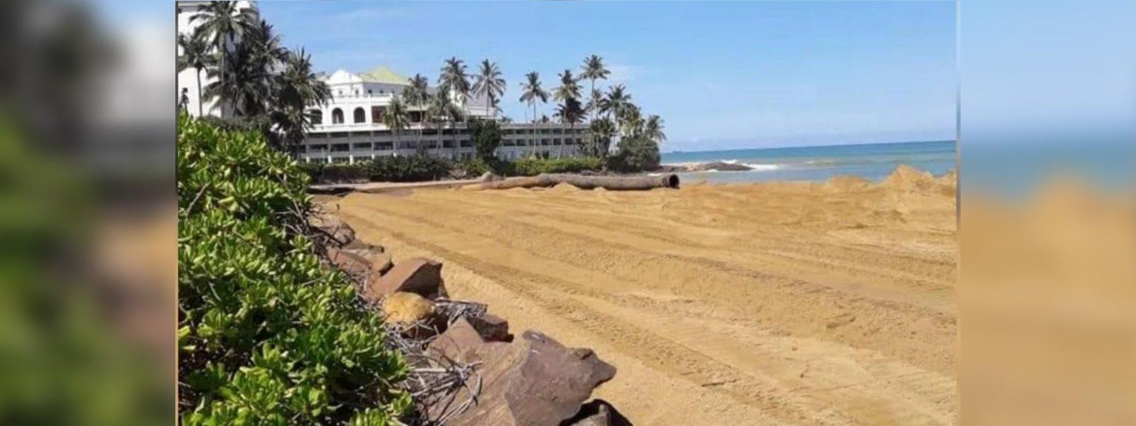 Environmentalists blame authorities over beach nourishment project