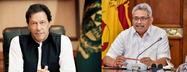 Pakistan PM Khan commend Sri Lanka's efforts to combat COVID-19