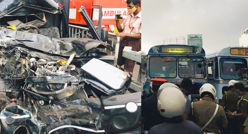 Soldier dead in fatal motor accident on Nugegoda fly-over