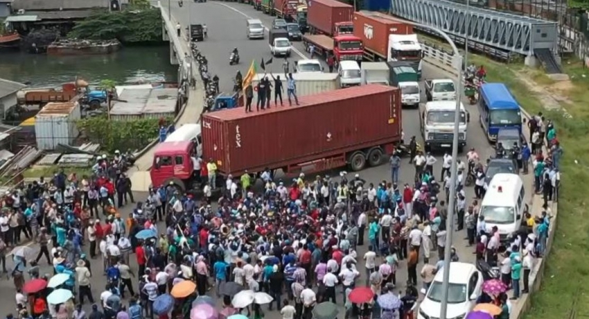 Operations at Colombo Port at a standstill as protest against leasing ECT intensify