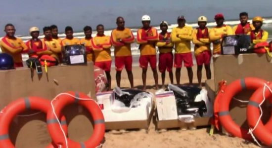 (VIDEO) Sri Lanka Life Saving equipped with US Assistance for drowning prevention