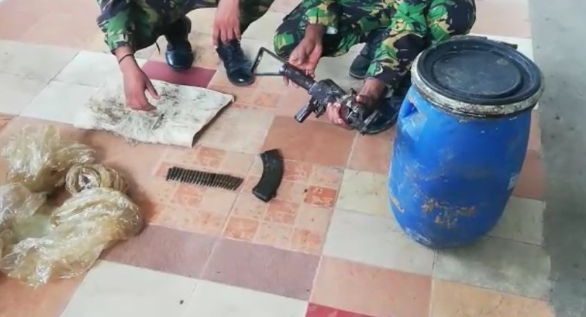 T-56 Assault Rifle and 22 live rounds of ammunition seized by STF