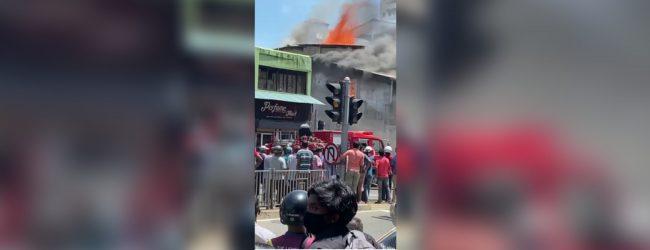 Fire erupts in Wellawatte