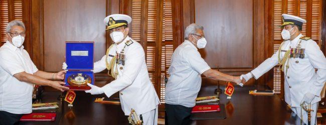 New Navy Commander meets President Rajapaksa