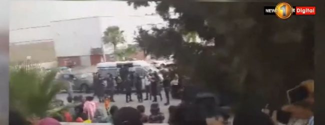 (VIDEO) Jordanian Security Forces Use Tear Gas On Sri Lankan Migrant Workers
