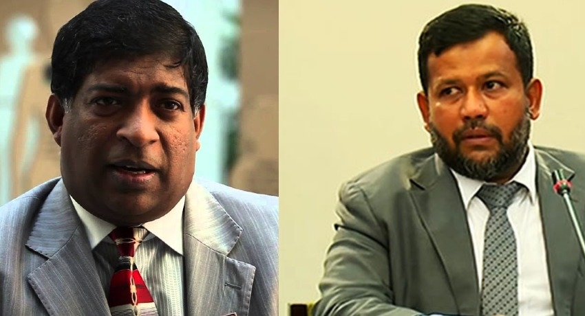 Ravi Karunanayake and Rishad Bathiudeen at CID to provide statements
