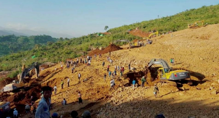 At least 162 killed in Myanmar jade mine landslide