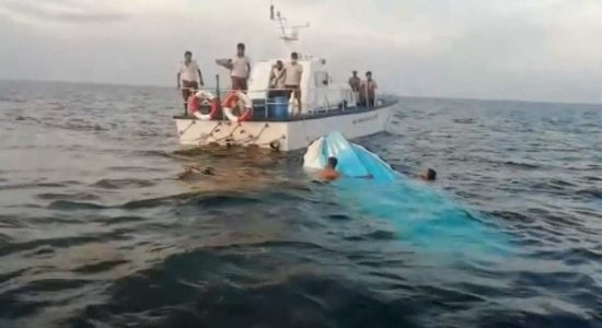 Fishing boat using dynamite sinks after colliding with Coast Guard vessel