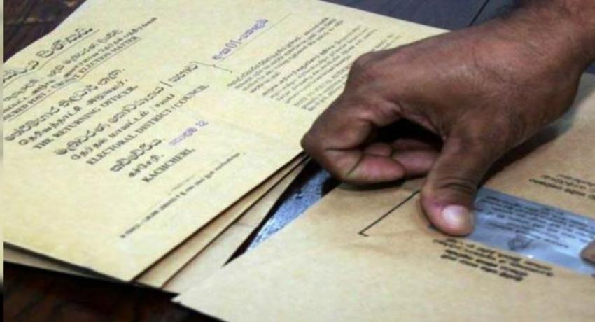Postal voting in Rajanganaya gets underway