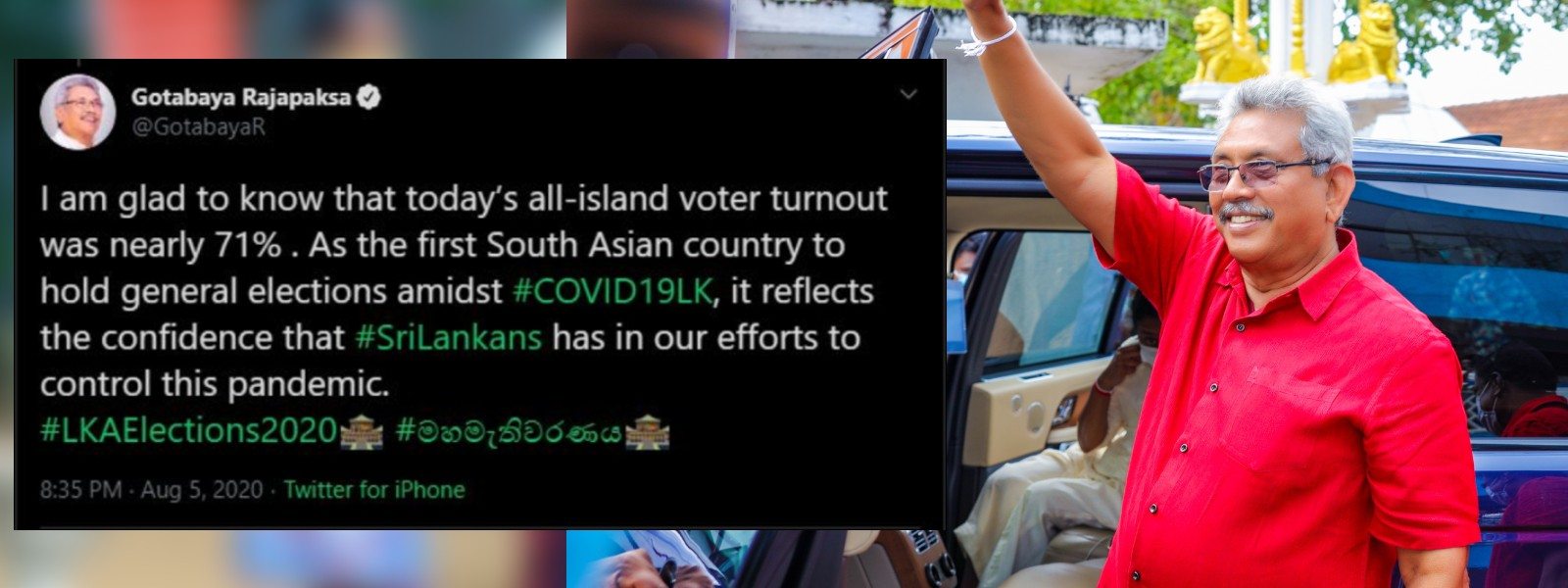 President says voter turnout reflects faith in GoSL efforts to control COVID-19