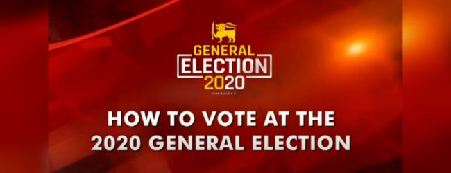 How to vote at the 2020 General Election on the 5th of August