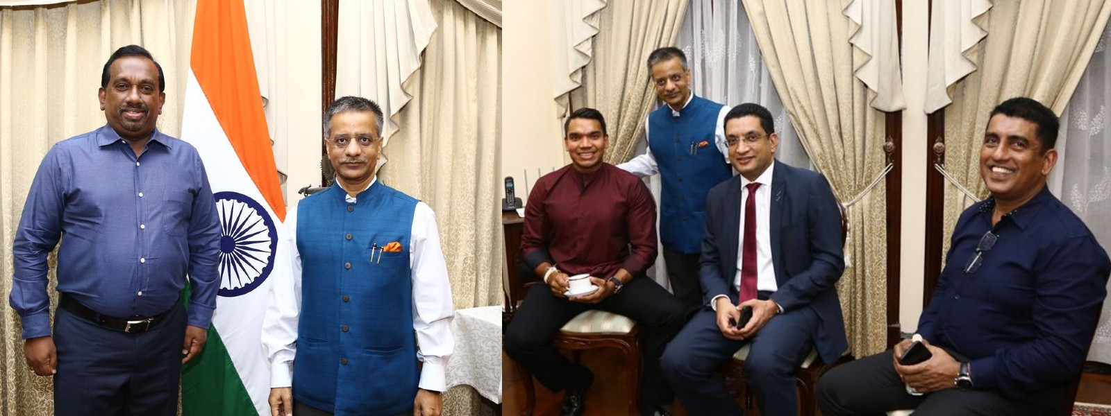 (PICTURES) Indian High Commissioner hosts dinner for new Sri Lankan Cabinet