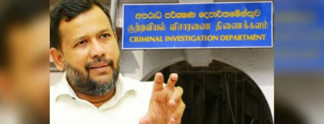 Ex-Minister Rishad Bathiudeen arrives at CID