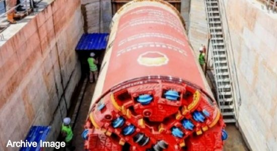 Tunnel construction for rainwater project ends