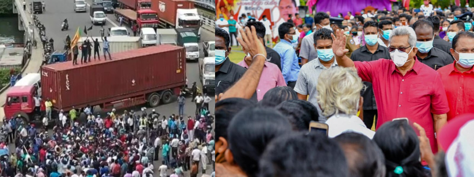 President unfazed by Anti-India protests at Colombo Port; Protesters barred from occupying buildings