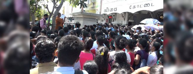 Trade unions stage protests seeking state jobs