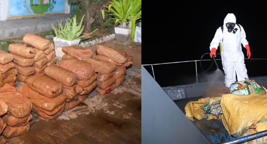 Navy seized 275kg of KG in northern seas (Pictures)