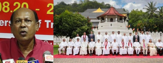 PM & Cabinet sworn-in before they took oaths as MPs; Siritunga Jayasuriya