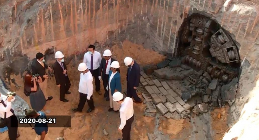 China funded flood water tunnel under Colombo