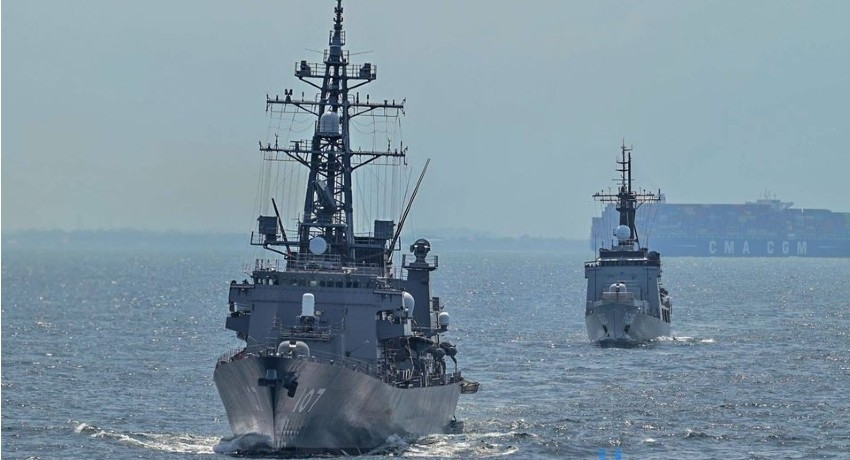 (PICTURES) JMSDF ships depart Colombo Port after successful naval exercise
