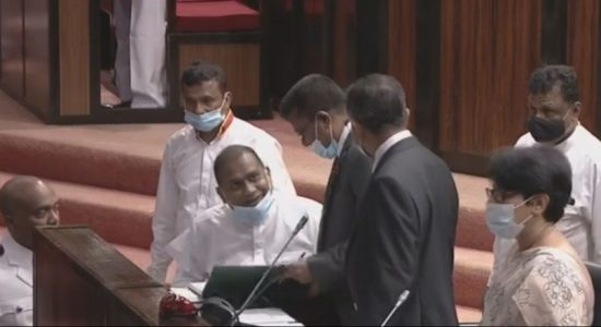 Premalal Jayasekera, who is on death-row, takes oaths as a Member of Parliament