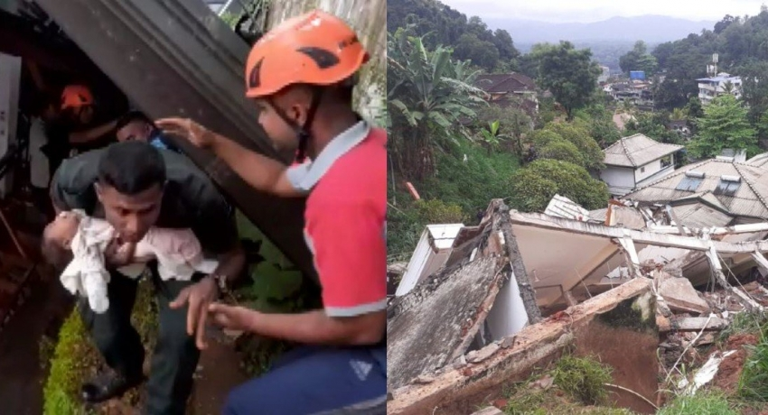 Family of three dead in Kandy building collapse; Bodies of parents recovered