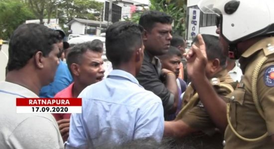 Protest against moves to relocate Ratnapura labour office