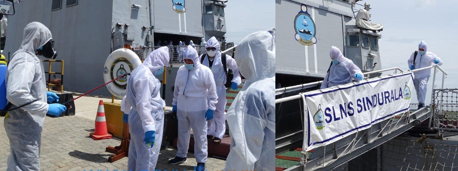 MT New Diamond Crew transferred to Hambantota Port, will be quarantined in Galle